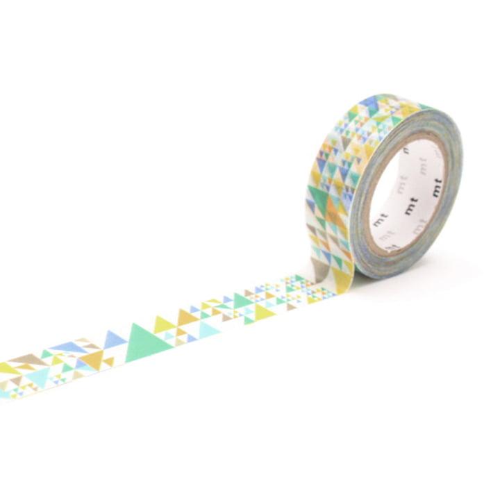 Masking Tape 1P Deko Series Sankaku Blue