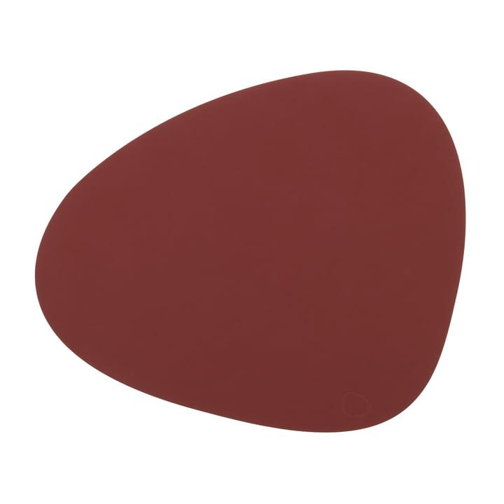 Tischset Curve L von LindDNA in Nupo rot