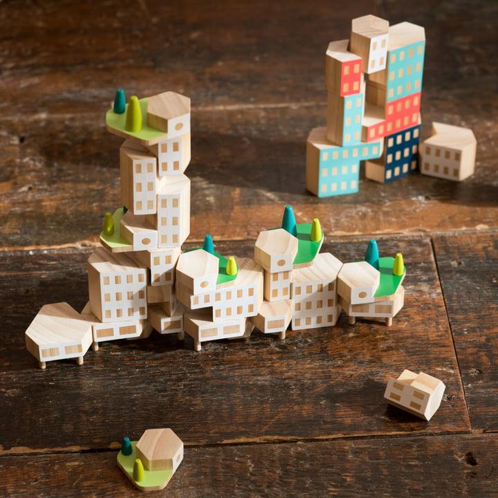 Blockitecture Spielzeug Holz-Architektur von Areaware