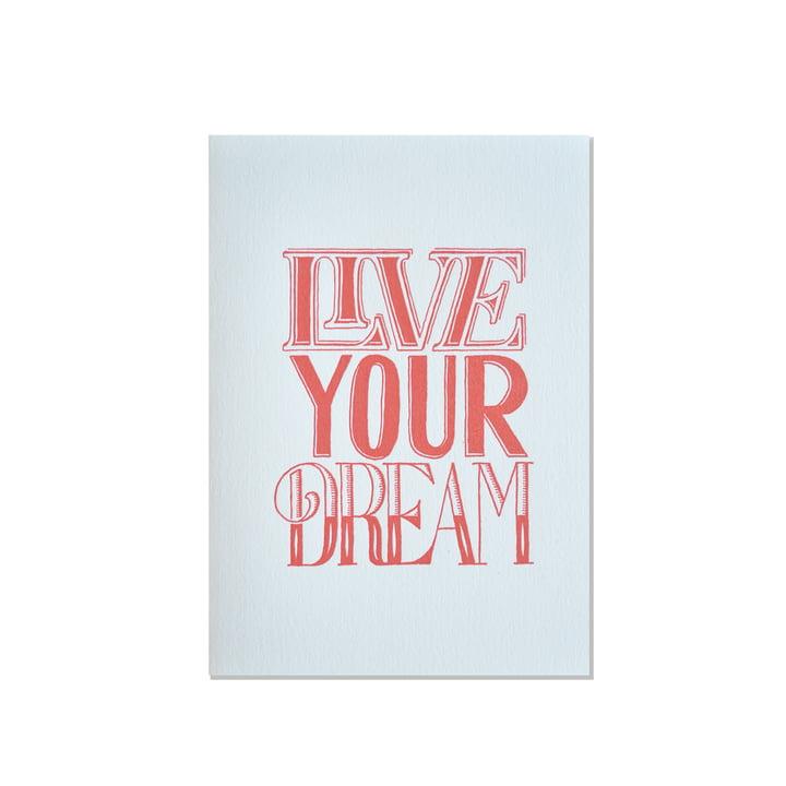 Sean Wes Artist Series Grußkarte Live Your Dream von Holstee