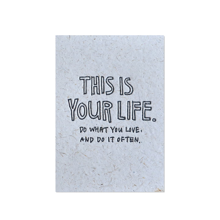 Yoko Artist Series Grußkarte This Is Your Life von Holstee
