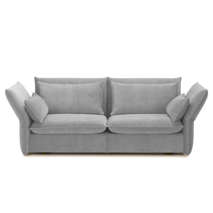 Vitra - Mariposa Sofa 2.5-Sitzer, silbergrau (Iroko 02)