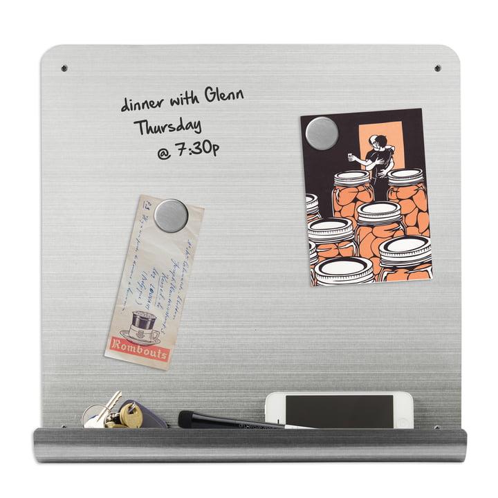 Magnetboard mit Ablage zum Beschriften