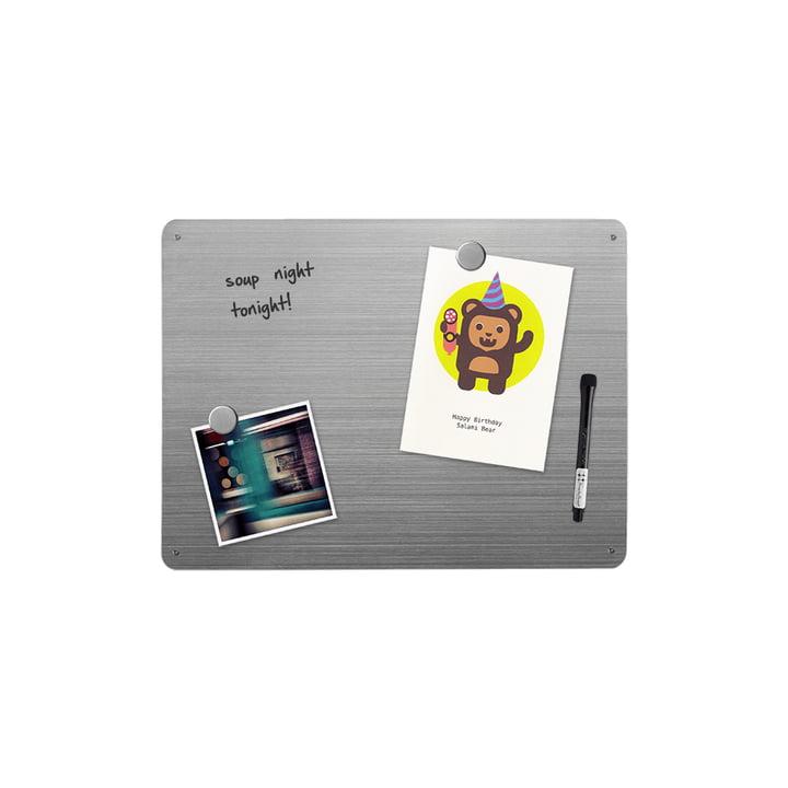 Edelstahl-Magnetwand zum Beschriften