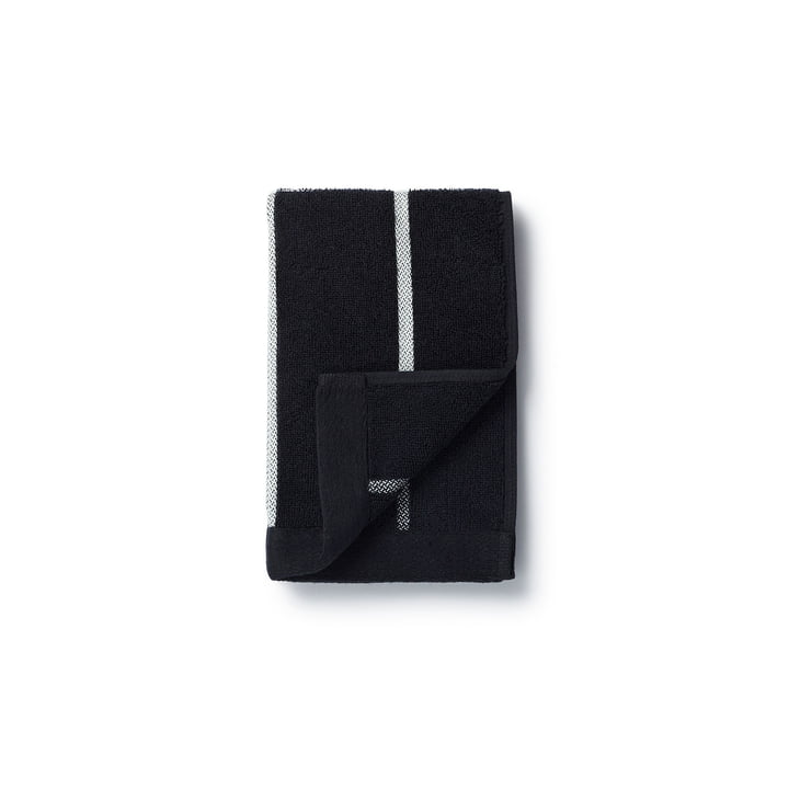 Marimekko - Tiiliskivi Handtuch 30 x 50 cm in Schwarz / Weiß