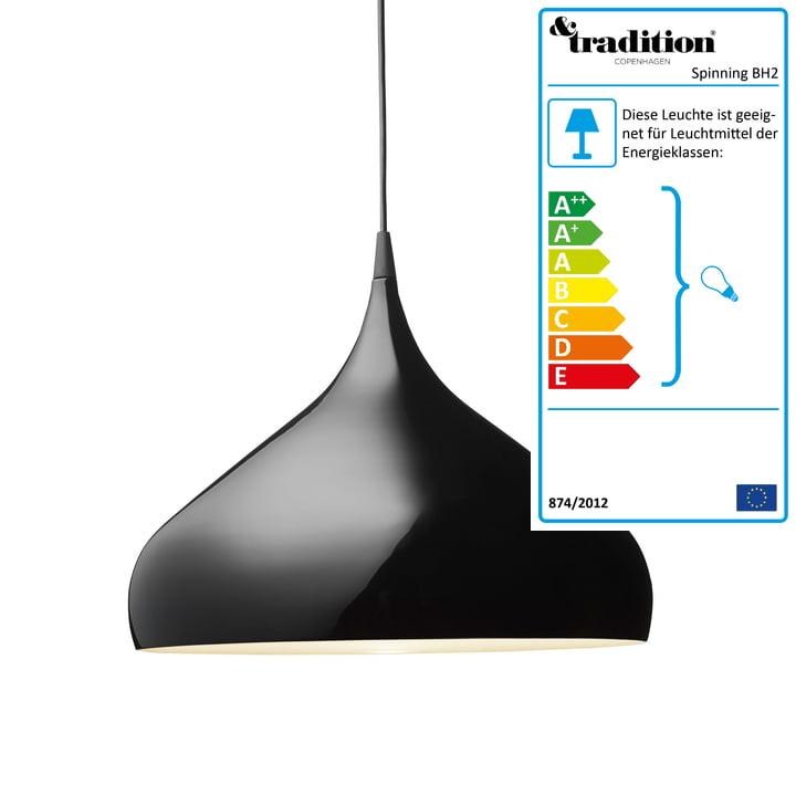 &Tradition - Spinning BH2 Pendelleuchte, schwarz