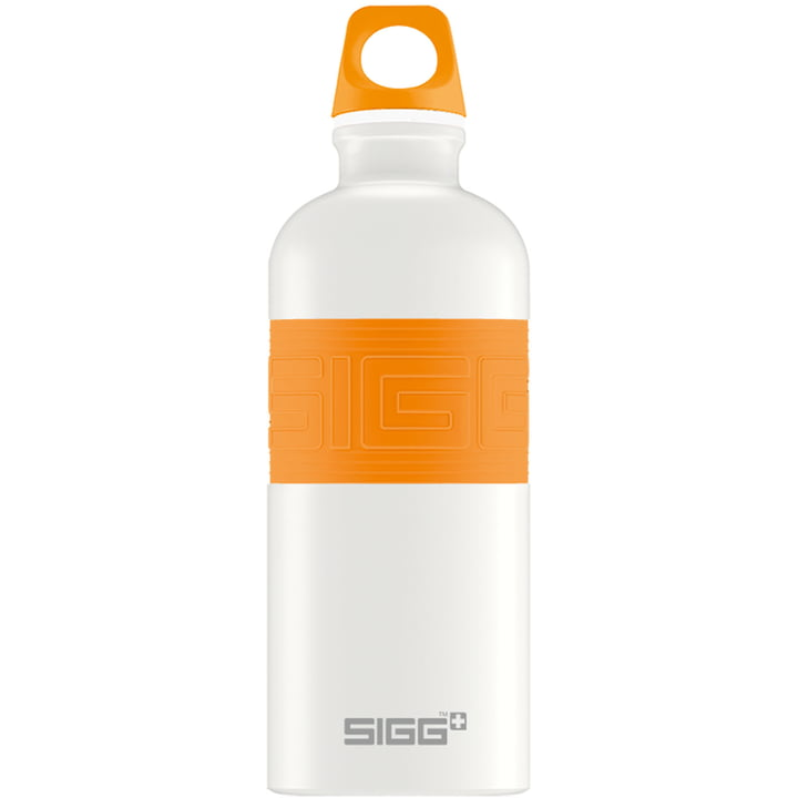 CYD Pure White Trinkflasche von Sigg in Orange