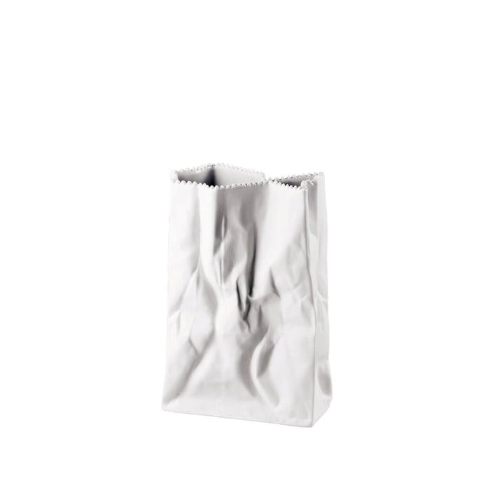 Rosenthal - Tütenvase, 18 cm, weiß-matt poliert