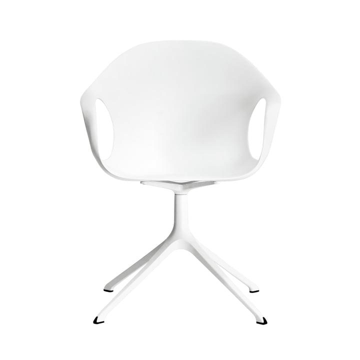 Kristalia - Elephant Stuhl mit Drehuntergestell in Weiß