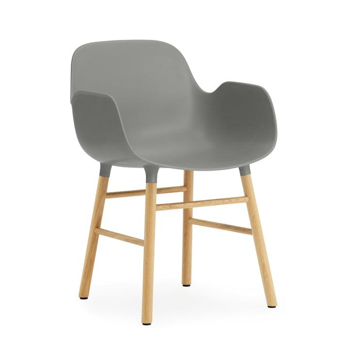 Form Armchair von Normann Copenhagen aus Eiche in Grau