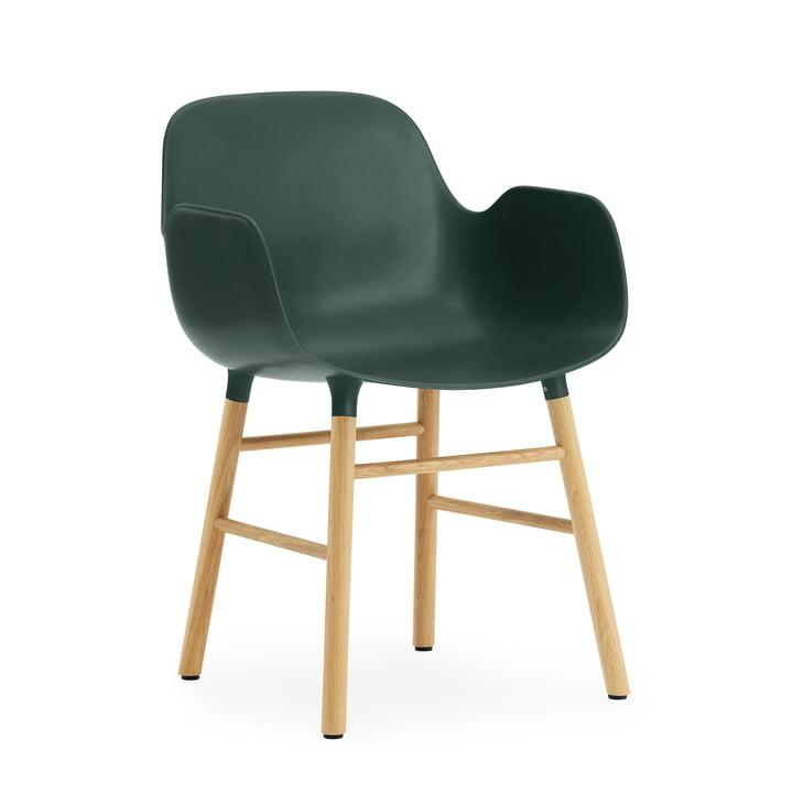Form Armchair von Normann Copenhagen aus Eiche in Grün