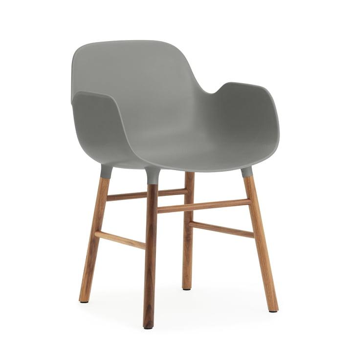 Form Armchair von Normann Copenhagen aus Walnuss in Grau