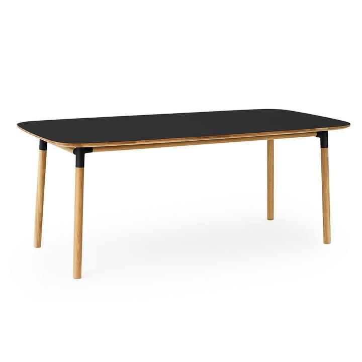 Form Table 95 x 200 cm von Normann Copenhagen aus Eiche in Schwarz