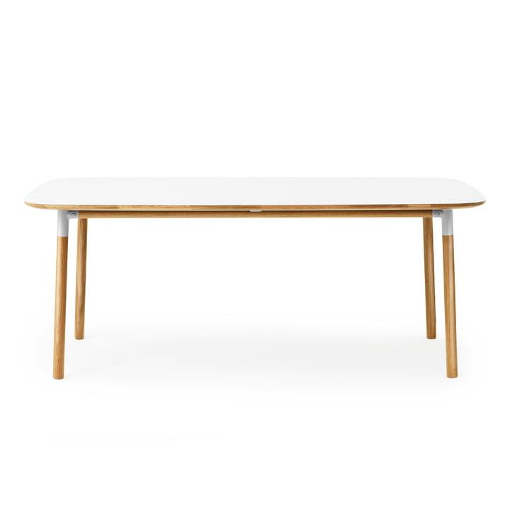 Form Table 95 x 200 cm von Normann Copenhagen aus Eiche in Weiß