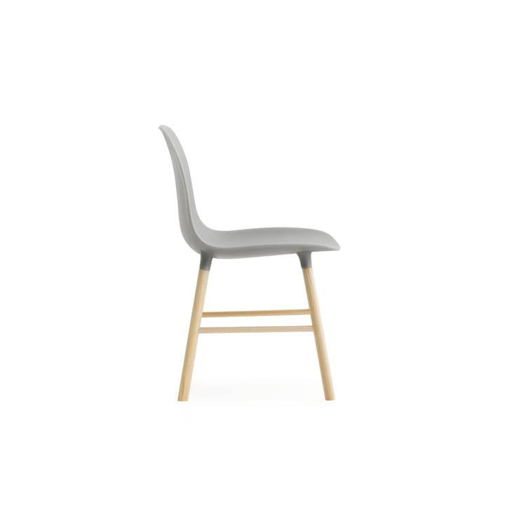 Form Chair Miniatur von Normann Copenhagen aus Eiche in Grau