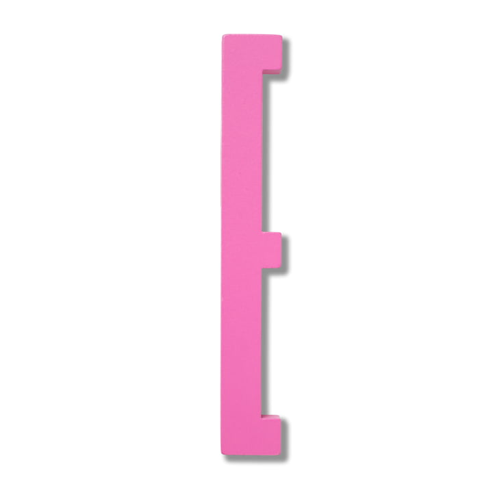 Wooden Letters Indoor E von Design Letters in Pink