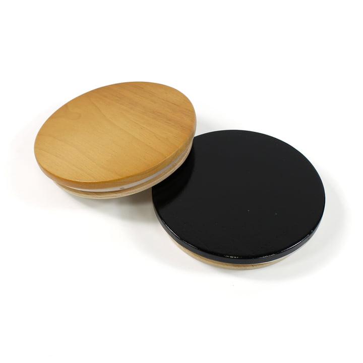 Holzdeckel für die Arne Jabosen Vase von Design Letters