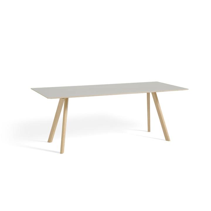 Hay - Copenhague CPH30 Esstisch 200 x 90 cm, Eiche matt lackiert / Tischplatte cremeweiß (Mushroom 4176)