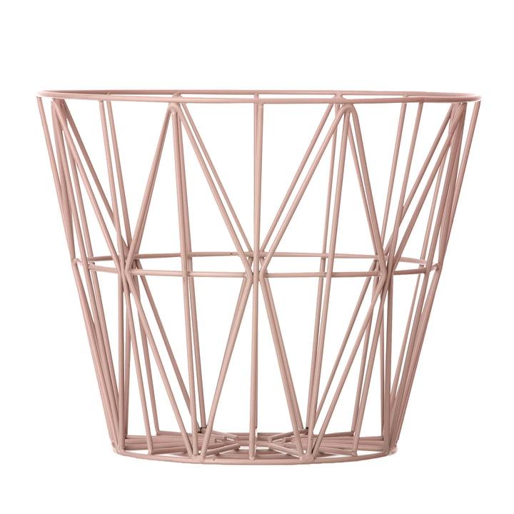 Wire Basket Medium von ferm Living in Rose