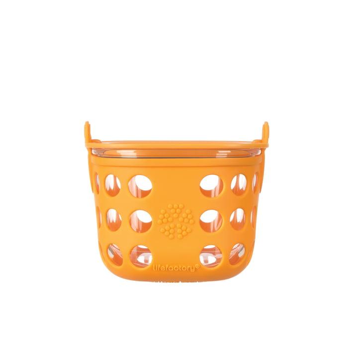 Glas Food-Container 0.4 Liter von Lifefactory in Orange