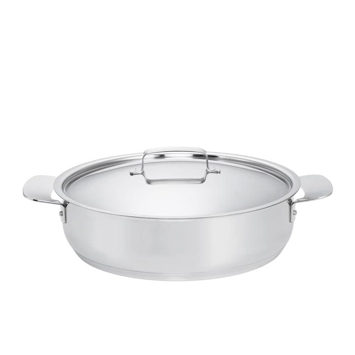 Fiskars - All Steel, Ofenpfanne mit Deckel, Ø 28 cm