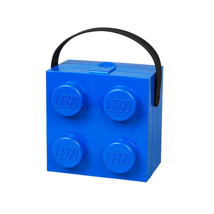 Lunch Box mit Griff von Lego in Blau