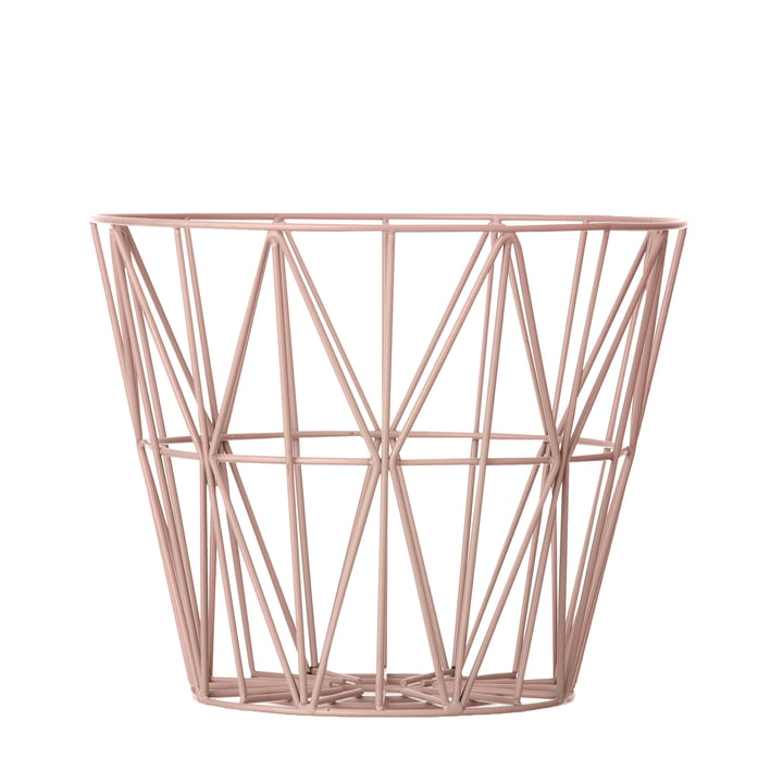ferm Living - Wire Basket Small in Rose