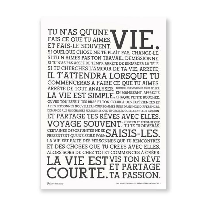 Poster White Manifesto groß von Holstee in Französisch