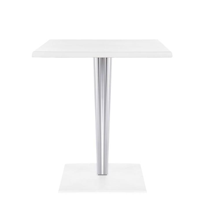 Top Top Tisch 60 x 60 von Kartell in Weiß matt