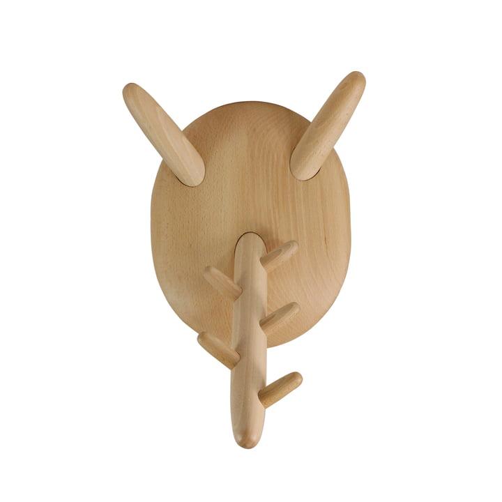 Moustache - Holzkleiderbügel, Pierre natur