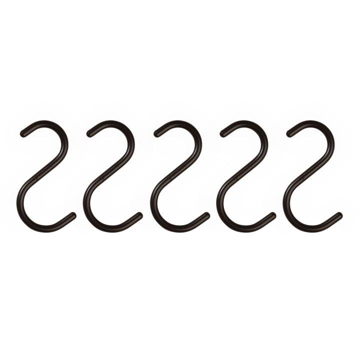 S-Hook von Nomess in Schwarz (5er-Set)
