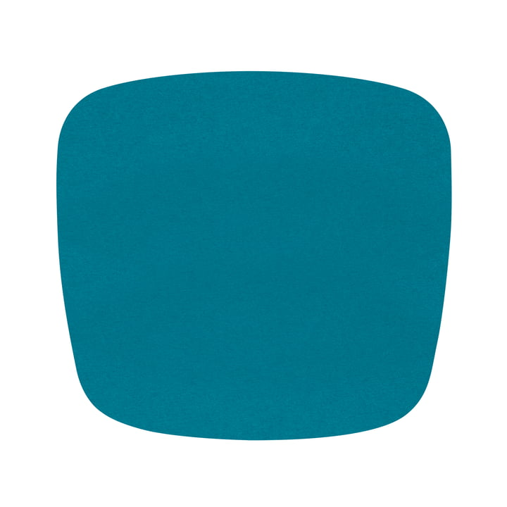 Hey Sign - Filz-Auflage Eames Plastic Armchair, deep water 5mm