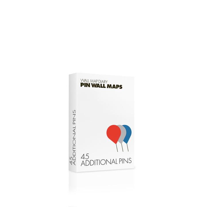 Palomar - Zusätzliche Reißzwecken für Pin World, 3 Farben (45 Stk.)
