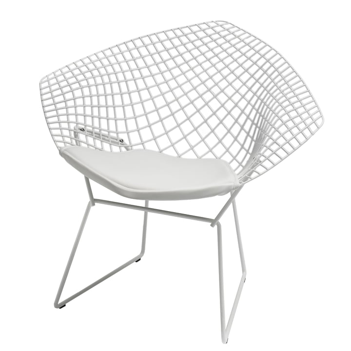 Bertoia Diamond Outdoor-Sessel von Knoll in Weiß