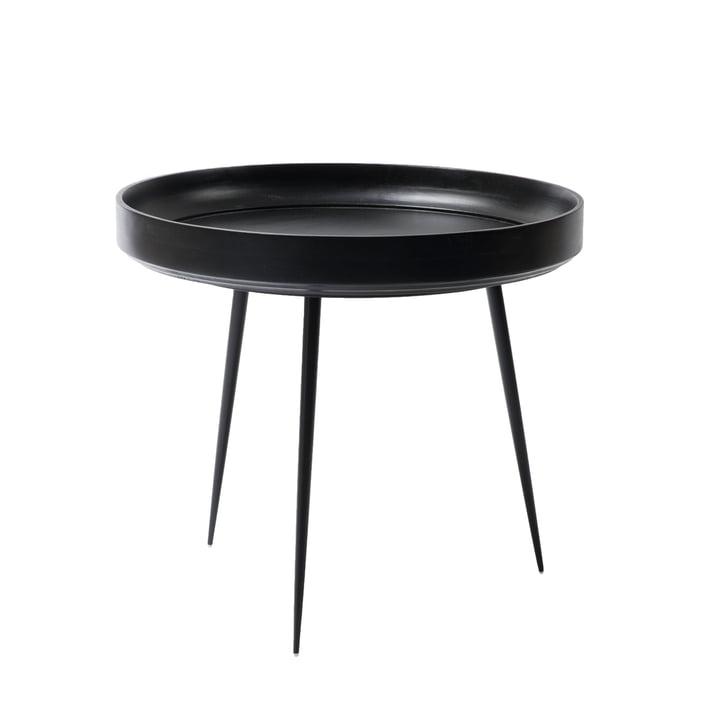 Bowl Table in Groß von Mater aus Mangoholz in Schwarz