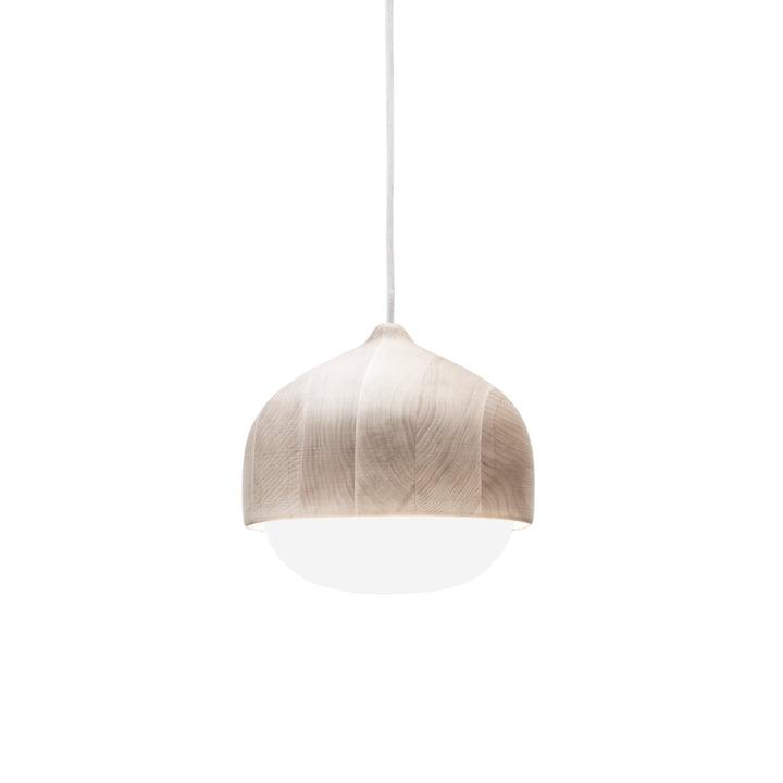 Mater - Terho Pendelleuchte, Ø 24 x H 21,5 cm, Erlenholz / weiß