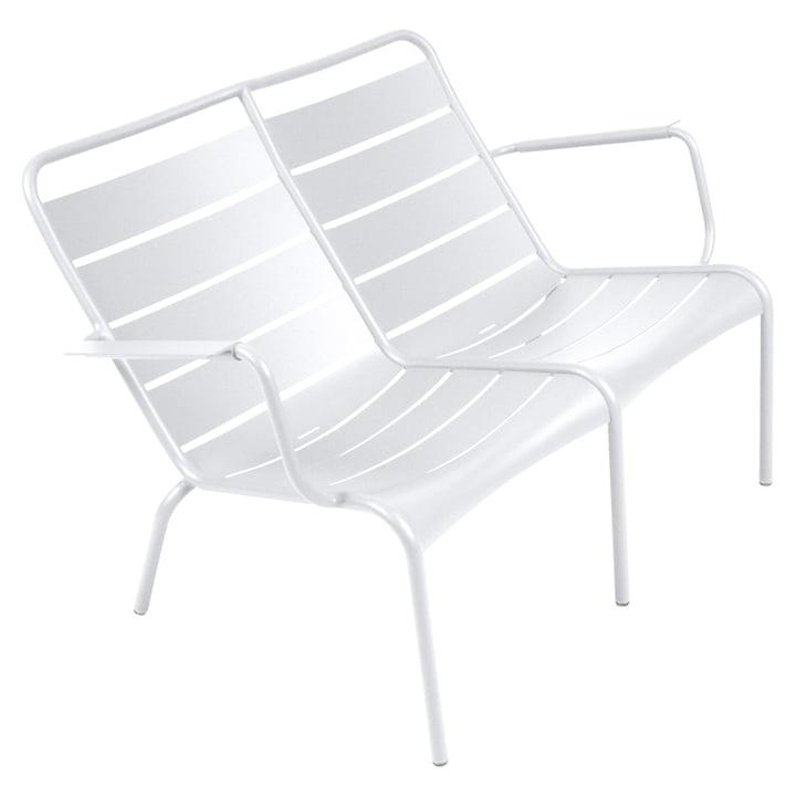 Luxembourg Tiefer Sessel Duo von Fermob in Baumwollweiß