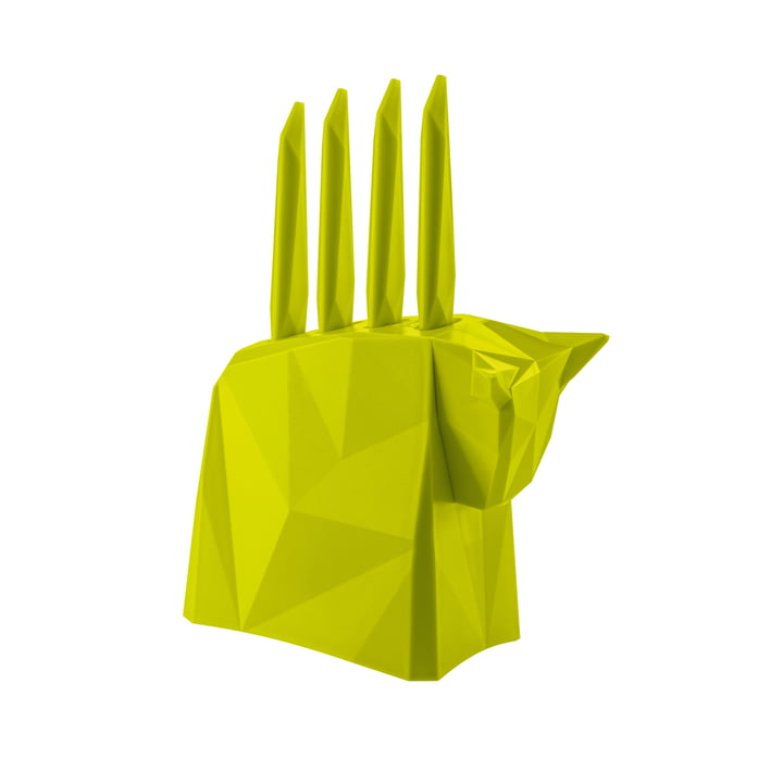 Pablo Steak-Messerblock von Koziol in Grün