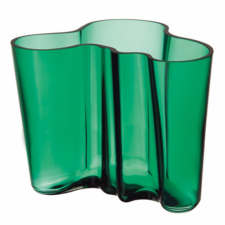 Aalto Vase Savoy 160 mm von Iittala in Smaragdgrün