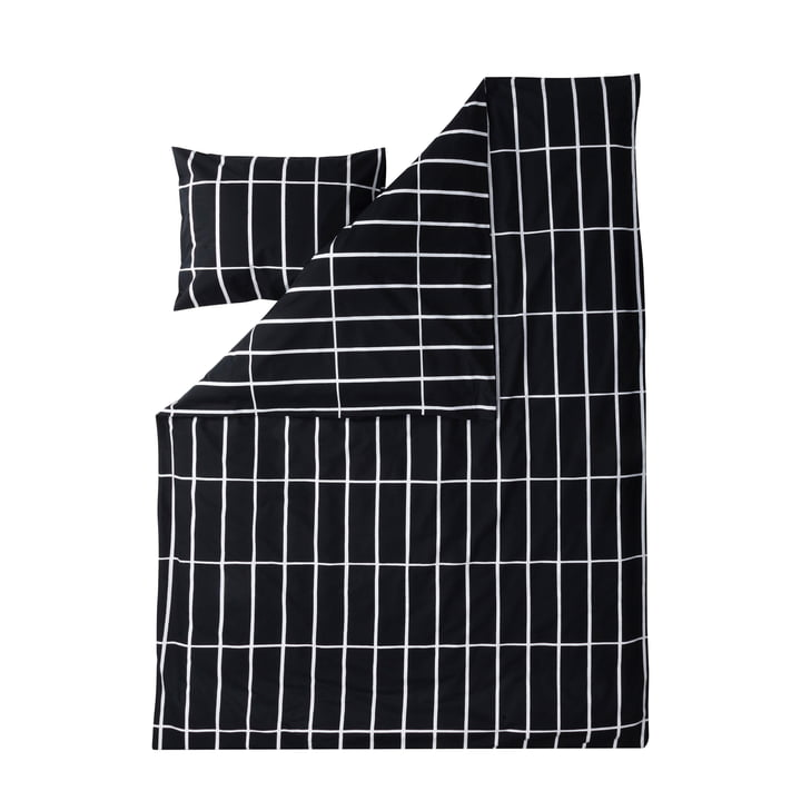 Tiiliskivi Kopfkissenbezug und Deckenbezug von Marimekko in Schwarz / Weiß