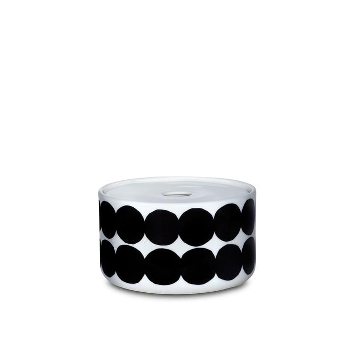 Das Oiva Siirtolapuutarha Vorratsglas mit einer Größe von 450 ml in weiß / schwarz
