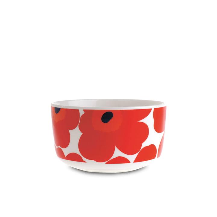 Oiva Unikko Schale 500 ml von Marimekko in Weiß und Rot
