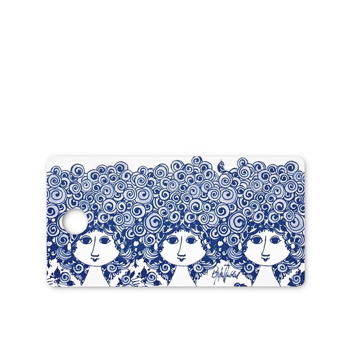 Frühstücksbrett Rosalinde von Bjørn Wiinblad in Blau