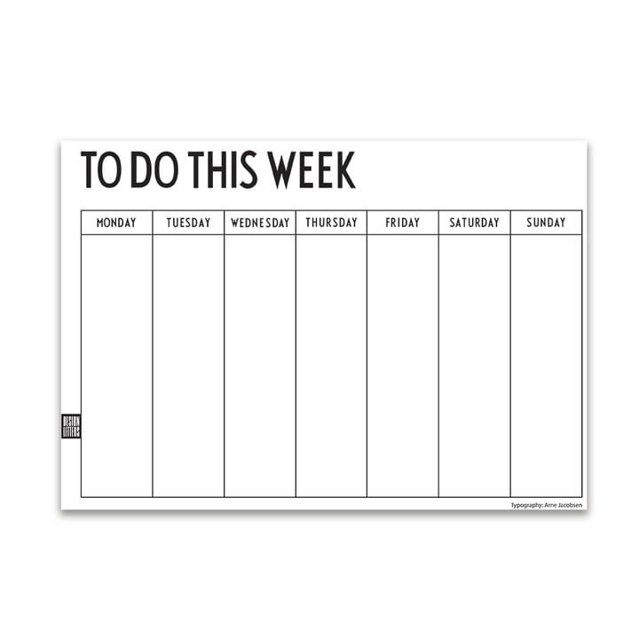 Weekly Planner A4 (Sprache: Englisch) von Design Letters