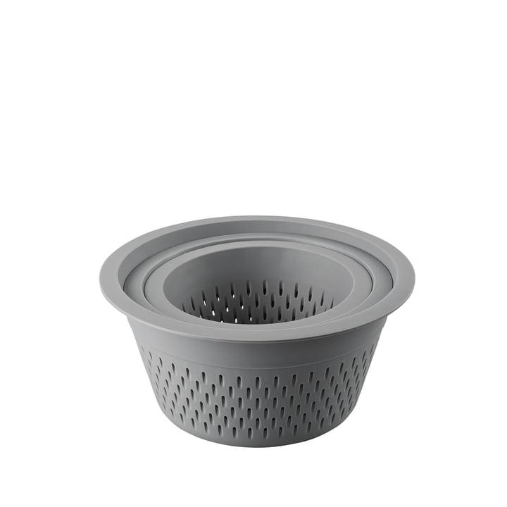 Das Kunststoffsieb im 3er-Set von Thomas in grau