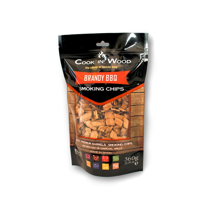 Brandy BBQ Räucherchips (360 g Packung) von Cook in Wood