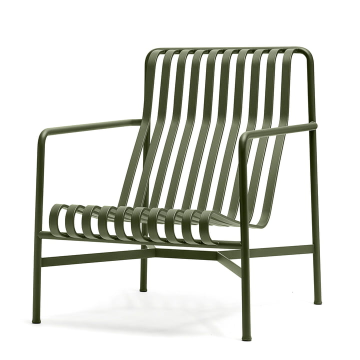 Der Palissade Lounge Chair High von Hay in olive