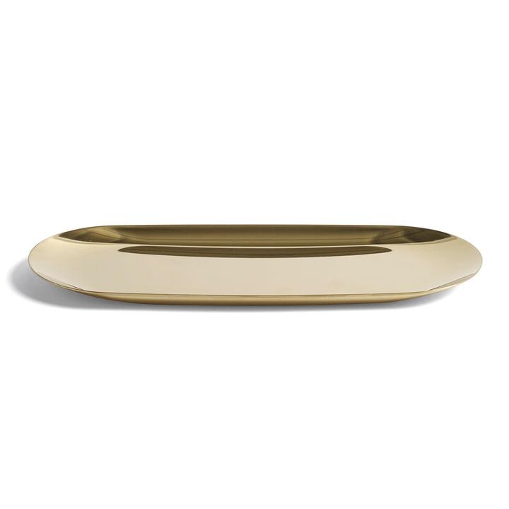 Das Tray Tablett in groß mit den Maßen 23.5 x 9.5 cm in gold