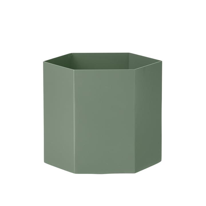 Hexagon Topf Large von ferm Living in Dusty Green