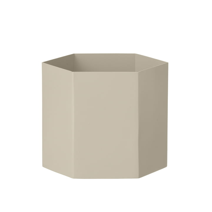Hexagon Topf Large von ferm Living in Grau